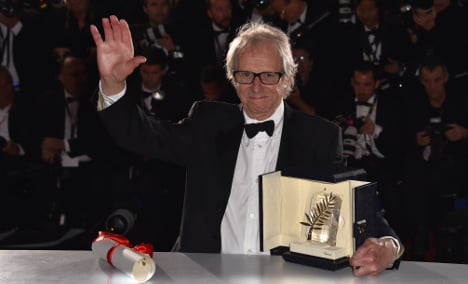 British director Ken Loach wins Palme d'Or at Cannes