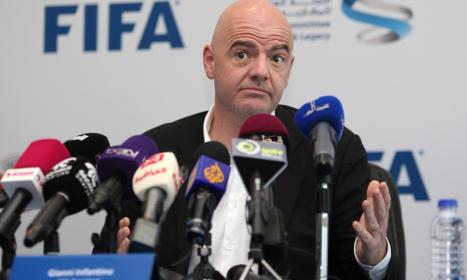 Fifa's Infantino hits out at 'greedy' jibes