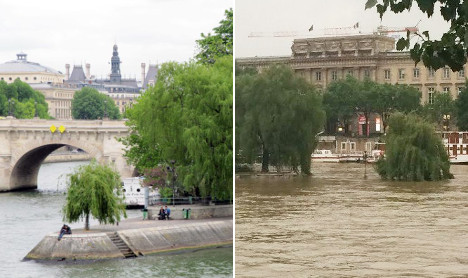 Striking before and after pics reveal extent of Paris flood