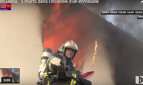 VIDEO: Blaze in Paris suburb leaves five dead