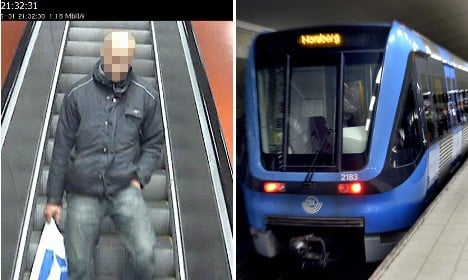 Police hold man linked to Stockholm metro 'attack'