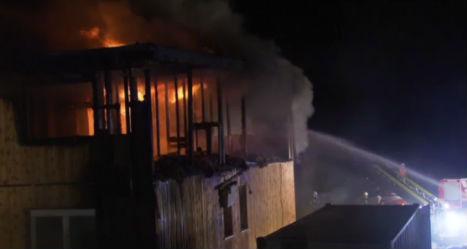 Arson destroys empty Austrian refugee centre