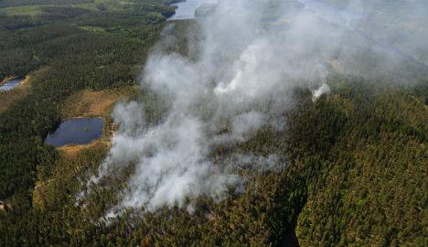Norwegian plane spots huge Swedish forest fire
