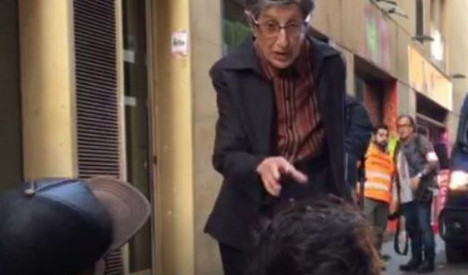 Fearless 'supergranny' stands up to squatters in Barcelona