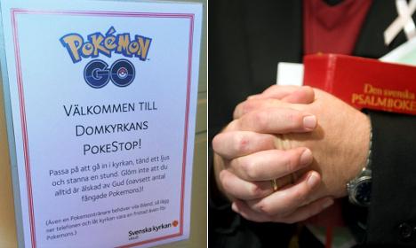 Swedish priests caught up in Pokémon Go craze