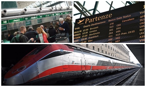 Trains and flights to be hit by national strike this weekend