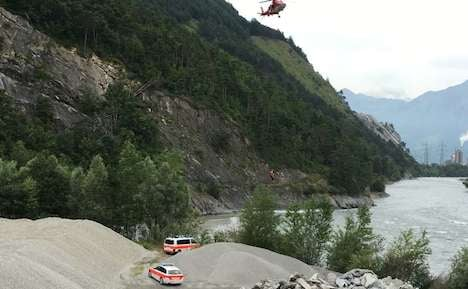 Mountain biker survives icy plunge into the Rhine
