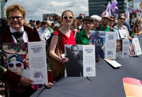 Cologne pride parade remembers Orlando
