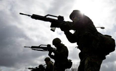 Govt argues over using army inside Germany