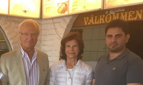 See Sweden's King and Queen pop out for pizza