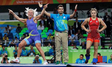 Swedish wrestler wins historic Olympic bronze