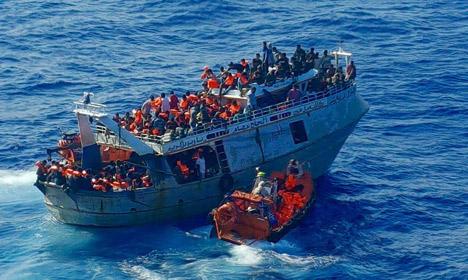 Norwegian ship rescues 296 migrants in Mediterranean