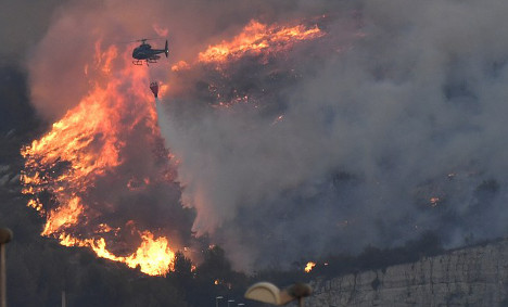 IN PICTURES: Wildfires ravage south of France