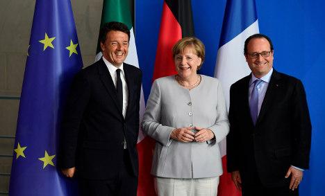 Big three tackle EU future on symbolic island
