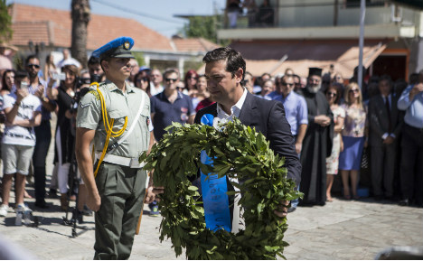 Greek PM vows to make Germany pay war reparations