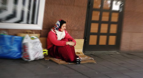 Sweden could ban begging after pressure from councils