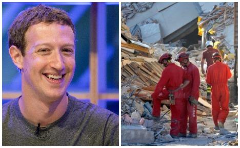Facebook donates €500,000 to quake-hit Italy
