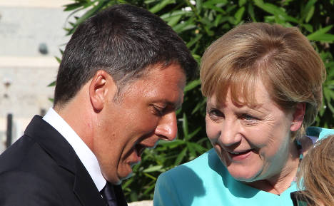 Merkel backs 'courageous' Renzi over EU budget rules