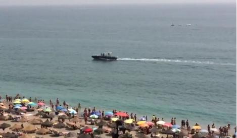 Costa del Sol beach closed over shark fears