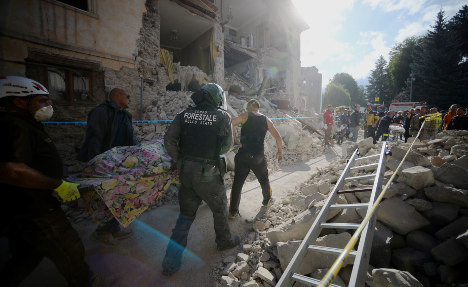 Three Britons among dead in Italy earthquake