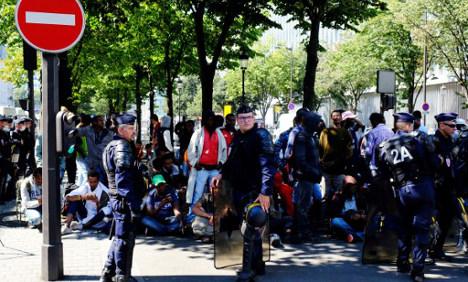 Three more migrant camps evacuated in Paris