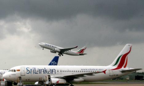 Sri Lanka airline suspends drunk pilot in Frankfurt