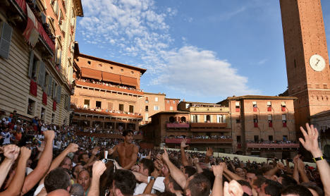 IN PICTURES: Hundreds gather for historic Siena palio