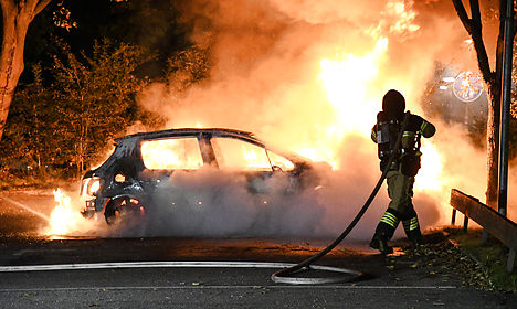 Car fires in Oslo as burnings reported across Scandinavia