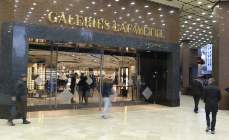 Paris: Galeries Lafayette sees fall in foreign shoppers