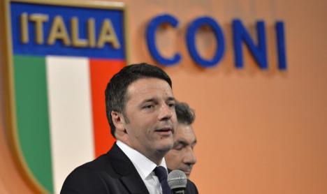 Italian PM dismisses idea of Rome 2024 Olympics