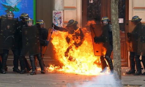 IN PICS: Labour law protests turn violent across France