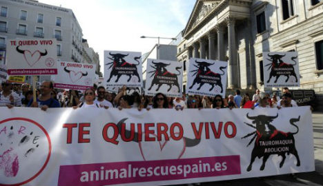 Thousands march in Madrid to push for bullfighting ban