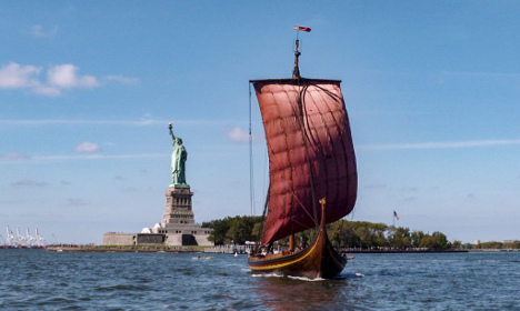 Watch this Nordic Viking ship sail into New York