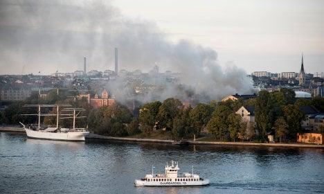 Firefighters battle Stockholm Royal Institute of Art blaze