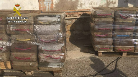 Spanish police make Med's largest hash bust this year