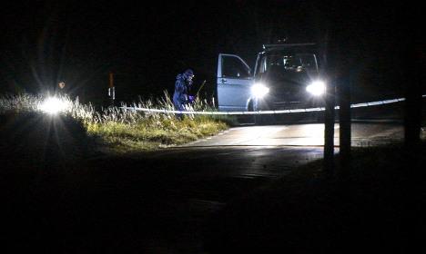 Burning body found on roadside in Sweden