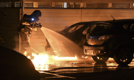 Four arrested for car fires in Malmö