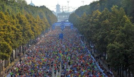 Ethiopia's Bekele nears record in Berlin marathon win