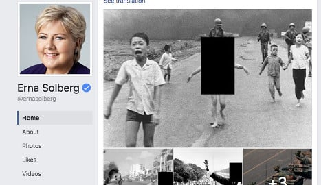 Facebook restores Norway PM's 'napalm girl' post