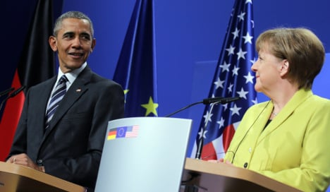 Obama thanks Merkel for open refugee policy