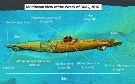 Mysterious German U-boat wreckage found off Scotland
