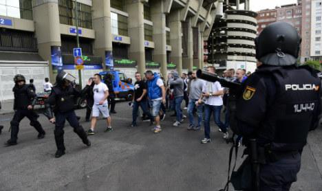 Fan violence mars Real Madrid win against Legia