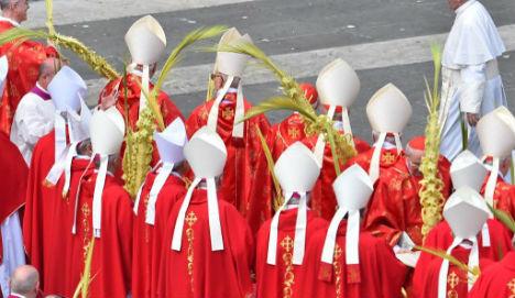 Cardinals protest St Peter's Square McDonald's