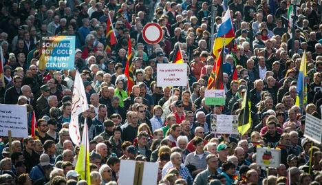 Thousands mark two years of German anti-migrant Pegida
