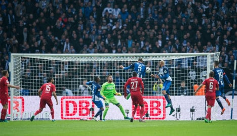 Hertha Berlin fan club criticised for 'anti-gay banner'