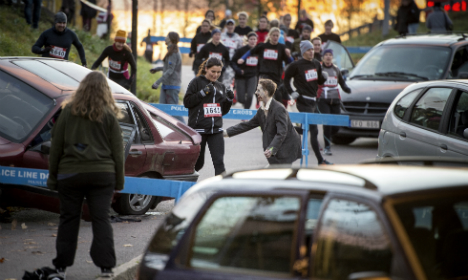 Nearly 2,000 run in Swedish zombie race