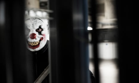 Creepy clown messes with the wrong dog walker in Sweden