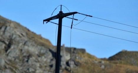 Army chopper crash caused by power line