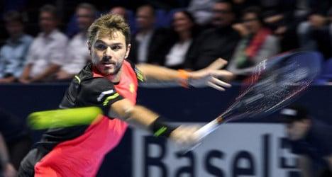 Wawrinka aces his way into Basel quarterfinals
