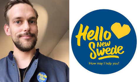 Can this badge prove Swedes want to help refugees?